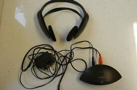 SONY CORDLESS STEREO HEADPHONES (type MDR IF 120) AND INFRA RED TRANSMITTER SET