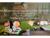 Amazing Nursery Practitioners and Room Leaders for Kensington Nursery- Part Time AM