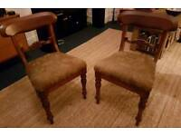 CAN DELIVER Pair of antique Edwardian chairs