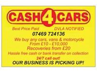 Cash 4 Cars scarp vehicle Collection