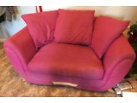 FREE - Pink Snuggle Chair / Cuddle Chair / Large Armchair - Swindon SN3 - Collection Only