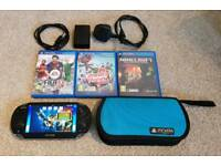 Sony PS Vita with Minecraft + three other games, 4gb mem card, case & charger. In good condition.