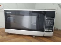 Silver Sharp Microwave Oven