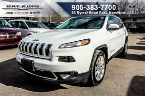 2016 Jeep Cherokee LIMITED, NAVI, HTD LEATHER, REMOTE START,BACK