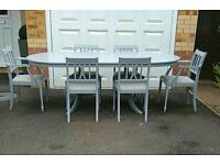 EXTENDING DINING TABLE AND SIX CHAIRS DELIVERY AVAILABLE