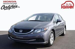 2014 Honda Civic LX**UN SEUL PROPRIO ! ! !** 10 ANS/200 000 KM