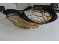 Stunning Modern Contemporary Decorative Glass Bowl Fruit Living Room Kitchen Like New Condition