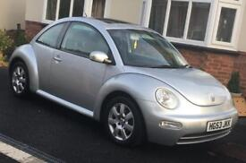 Volkswagen Beetle VW, 1.6, 3 dr, 2003, Silver, Low Mileage, 12 Months MOT, FSH, 2 lady owners