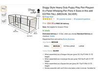 Heavy Duty Puppy Play Pen.