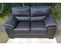 Ex-display Oregon 2 Seater Brown Leather Sofa