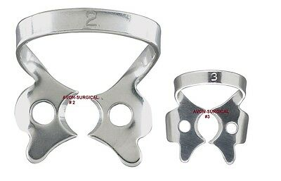 4 Endodontic Rubber Dam Clamps 3  2 Dental Instruments