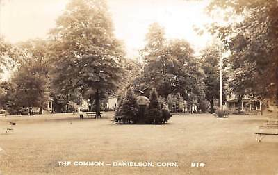 Danielson  Ct   The Common   Real Photo Post Card    Used 1950