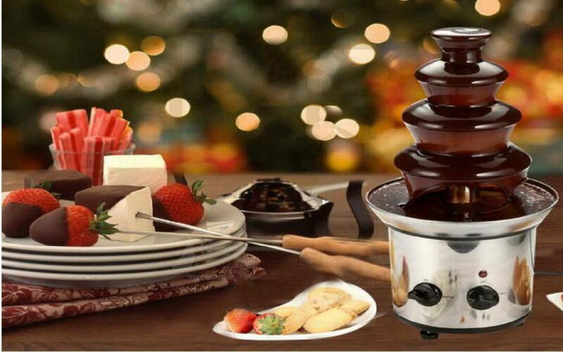 180W 4 Tiers Chocolate Fondue Fountain