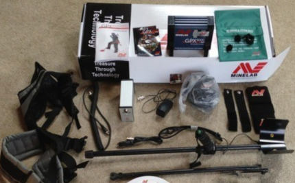 MINELAB GPX 5000 GOLD DETECTOR KIT WITH BAG & PINPOINTER PRO
