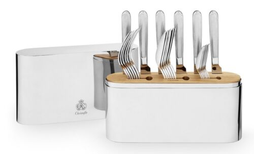 Concorde by Christofle France Stainless Steel 24-pc Flatware Set with Case New