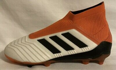 Adidas Youth Predator 18+ FG Soccer Cleats White/Black CP8983. Youth Size: 4&4.5