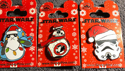 Disney Star Wars Christmas 3 Pins