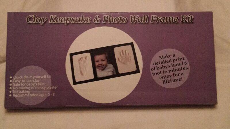 Casting Keepsakes Clay Keepsake and Photo Wall Frame Kit - Black