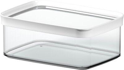 Emsa Botes Depósitos Optima 2l Anguloso Blanco Almacenamiento de Cocina Casa
