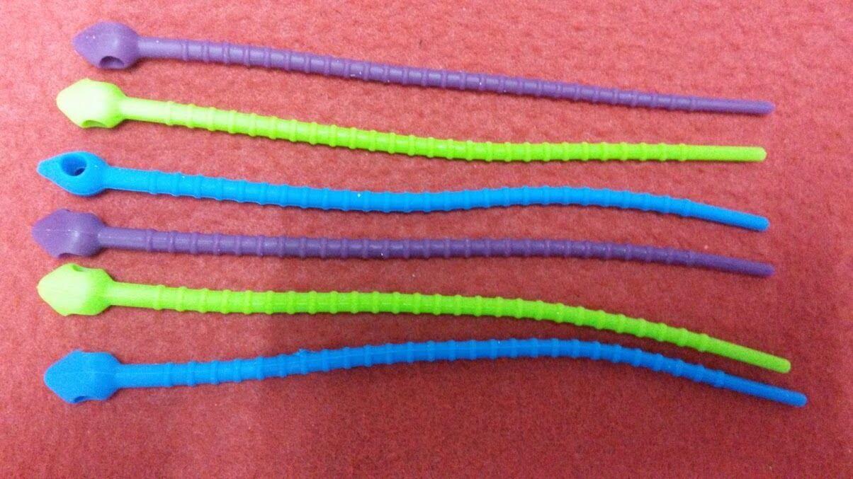 24 Stück 3 Farben Silikon Rouladenbinder Rouladen ca. 17cm lang Kohlrouladen