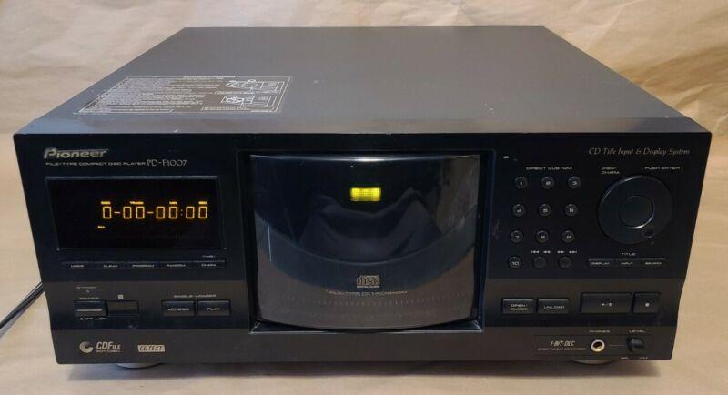 Pioneer PD-F1007 Mega CD Changer 300+1 Disc Carousel Player - READ DESCRIPTION