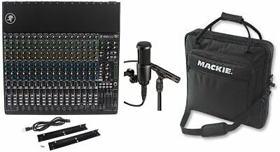New Mackie 1604VLZ4 16-channel Mixer+Travel Bag+AT2041SP Recording Mics Mackie Powered Mixer Bag