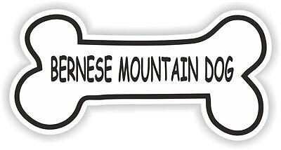 BERNESE MOUNTAIN DOG BONE STICKER BREED NAME DOG FOOD BOWL PUPPY PET VINYL DECAL