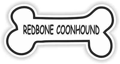 REDBONE COONHOUND BONE STICKER BREED NAME DOG FOOD BOWL PUPPY PET VINYL DECAL