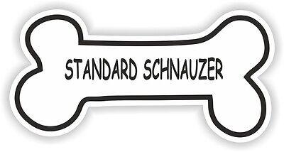 Standard Schnauzer Knochen Aufkleber Rasse Name Hundefutter Schale Puppy