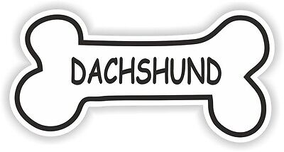 DACHSHUND BONE STICKER BREED NAME DOG FOOD BOWL PUPPY PET VINYL DECAL