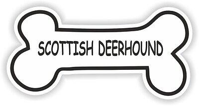 SCOTTISH DEERHOUND BONE STICKER BREED NAME DOG FOOD BOWL PUPPY PET VINYL DECAL