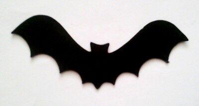BATMAN BAT SILHOUETTE x 10 Die Cuts Quality Black Card