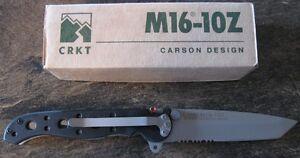 BRAND-NEW-CRKT-M16-10Z-Kit-Carson-EDC-Folding-Folder-Knife-8Cr15MoV-Tanto-Blade