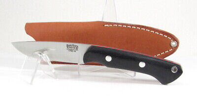Bark River Knives, Featherweight Fox River, 3V, Black CanvasMicarta w/Red Liners