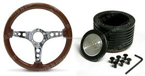 SAAS WOODEN STEERING WHEEL WITH BOSS KIT HOLDEN, HQ , HJ , HZ , HX