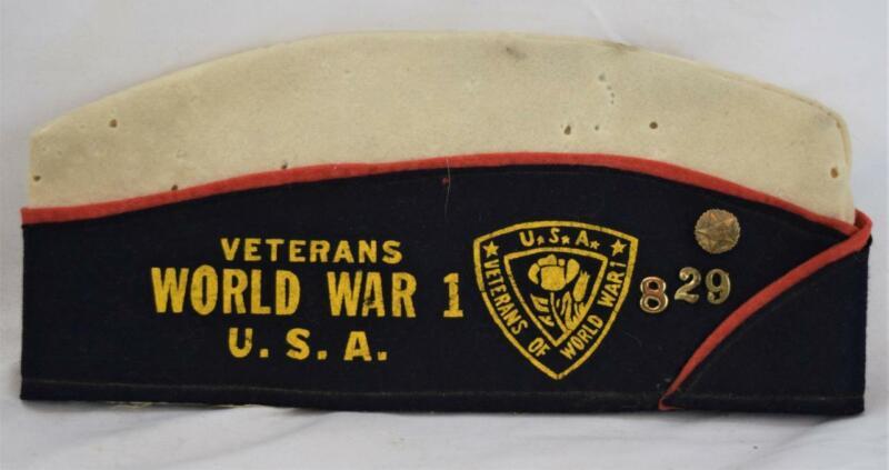 Veterans World War 1 I U.S.A. Hat/Cap w/Pins