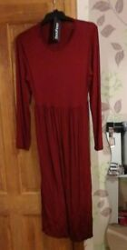 Boohoo red dress uk 12