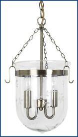 Laura Ashley Berwick Glass and Brass Pendant Light