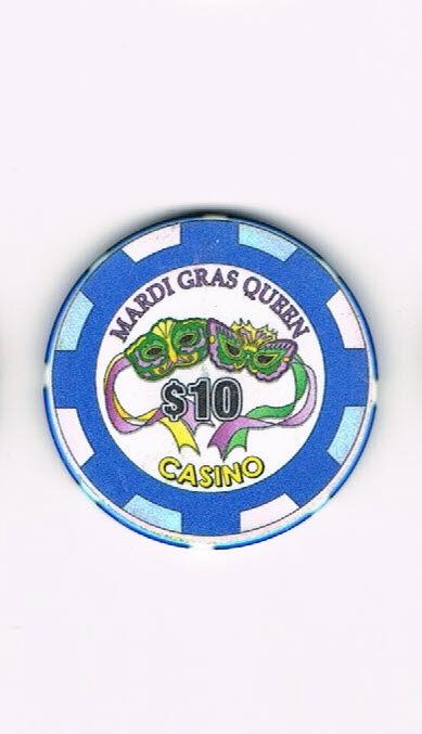 Mardi Gras Queen Casino  $10 Casino Chip