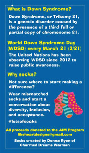 Fundraiser for World Down Syndrome Day March 21