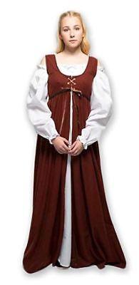 Plus Size Ren Faire Dress Medieval Renaissance Costume LARP Gown Long Chemise - Renaissance Faire Costumes Plus Size
