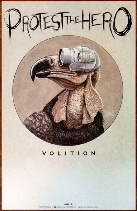 PROTEST THE HERO Volition Discontinued Ltd Ed RARE Poster+FREE Metal/Rock Poster