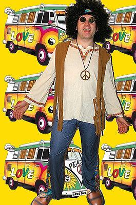 199✪ Hippie Herren Kostüm Woodstock 60er 70er Jahre Festival Schlagermove 50 - Woodstock Festival Kostüm