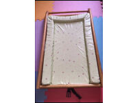 Cot top changer with changing mat - Barely used