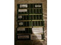 6x DDR/DDR2 RAM sticks
