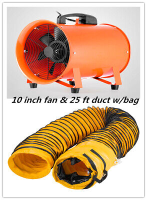 10 Extractor Fan Blower Portable 8m Duct Hose Wbag Ventilator Air Mover