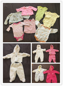 Baby girl clothes and winter suits (Vêtements pour Bébé Fille)