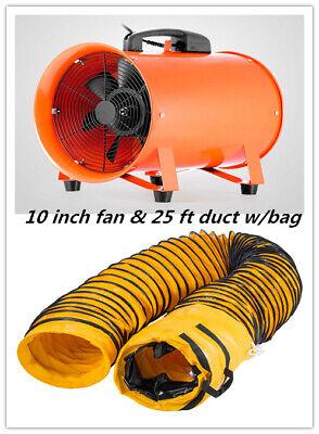 10 8m Extractor Fan Blower Portable Duct Hose Wbag Fume Utility Ventilation