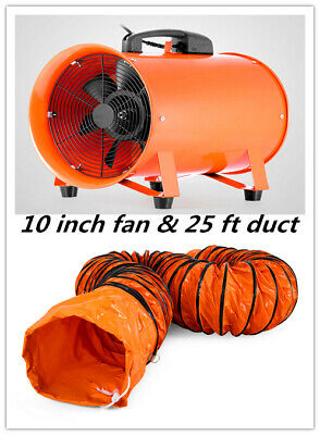 10 Extractor Fan Blower Portable 8m Duct Hose Fume Utility Ventilation Exhaust