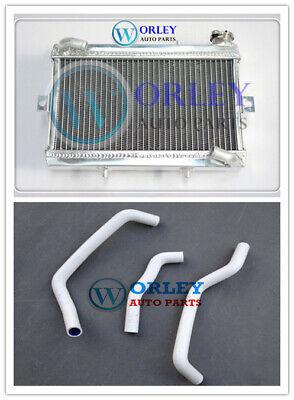 3 CORE Aluminum Radiator +WHITE hose for Honda TRX250 TRX250R TRX 250R 1988 1989